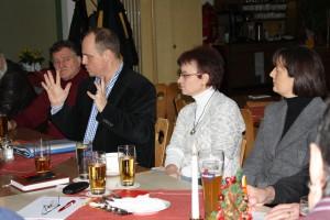 Christian Vogel beim politischen Frühschoppen
