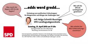 Politischer Frühschoppen mit Helga Schmitt-Bussinger