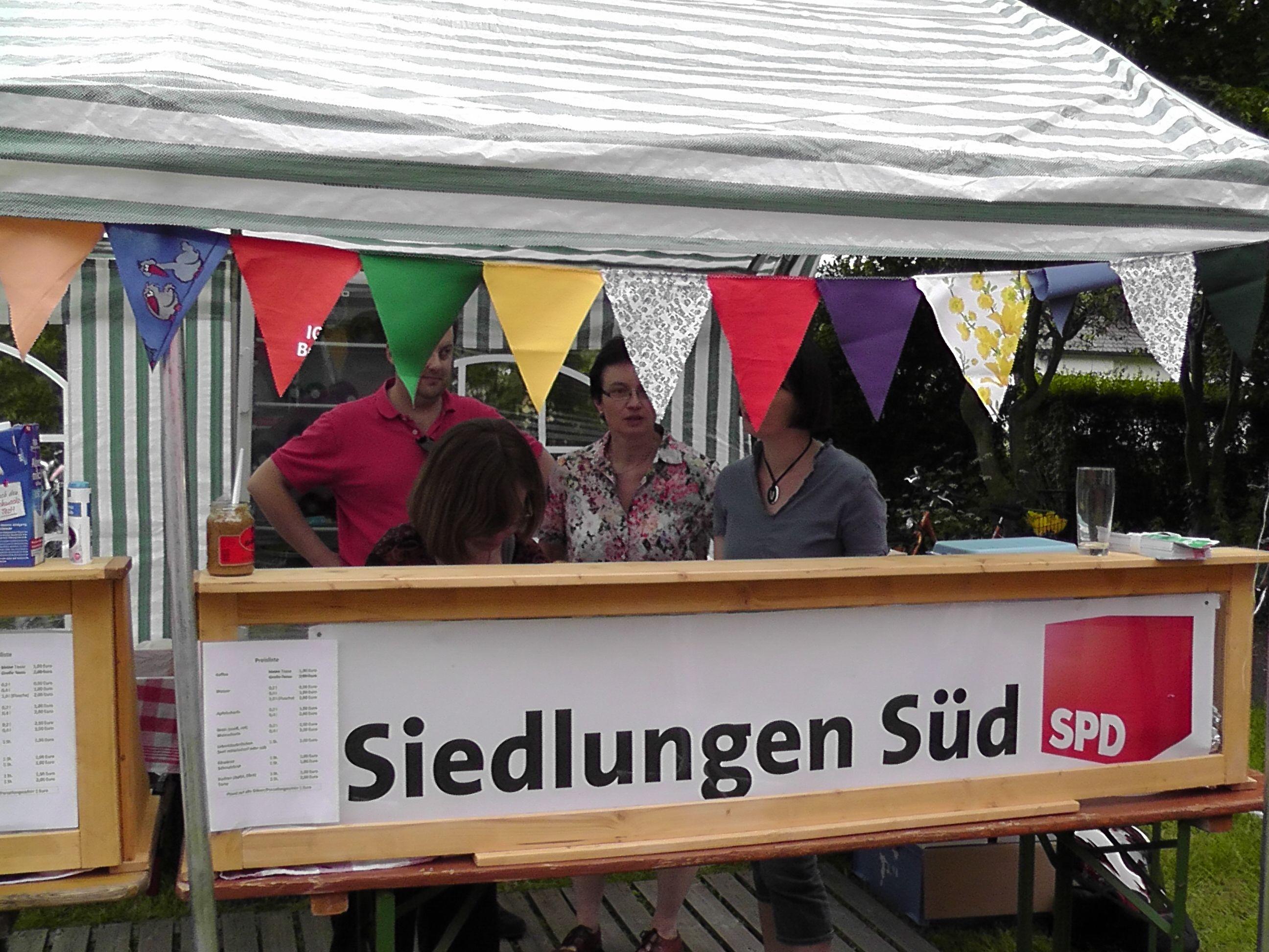 Stadtteilfest 2013 Verkaufsstand SPD